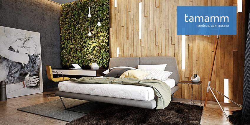 Оформление спальни в экостиле