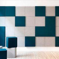 Мягкая стеновая панель Квадраты